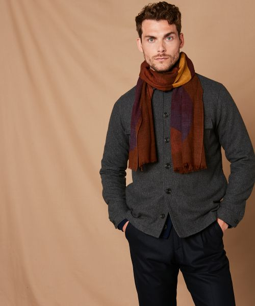 Abstract wool scarf