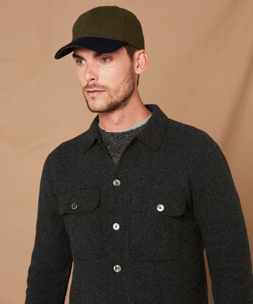 Army wool patch cap