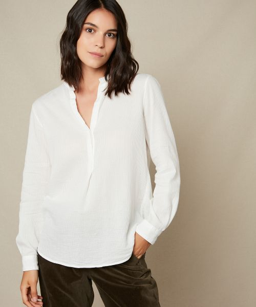 Striped cotton gauze Carta shirt
