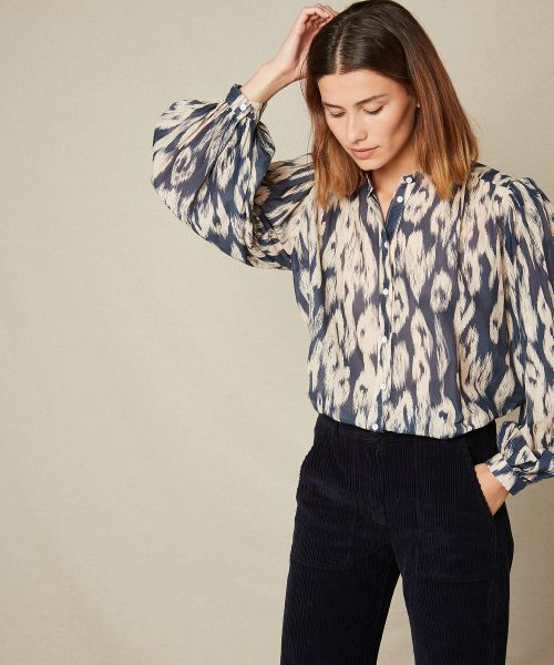 Ikat print Courtney shirt
