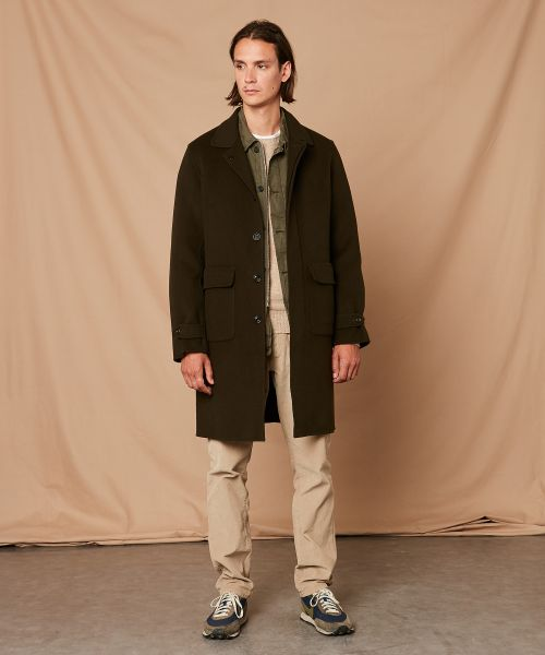 Army double face wool Clark Coat