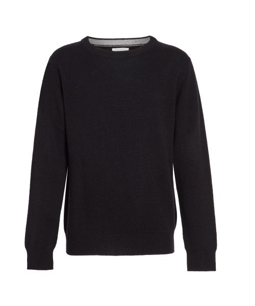 Black wool and cashmere sweater