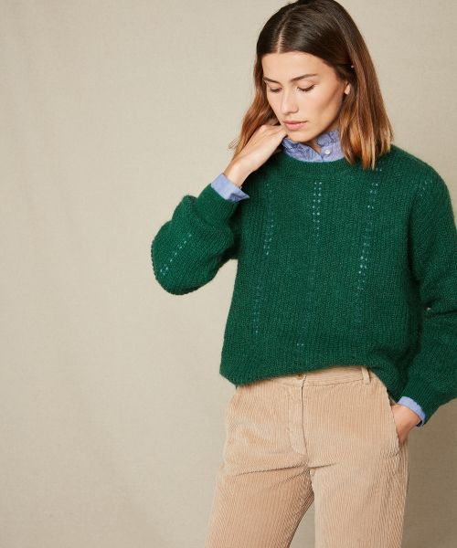 Green Mada mohair sweater