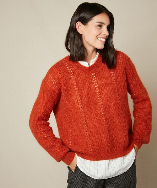 Brick Mada mohair sweater