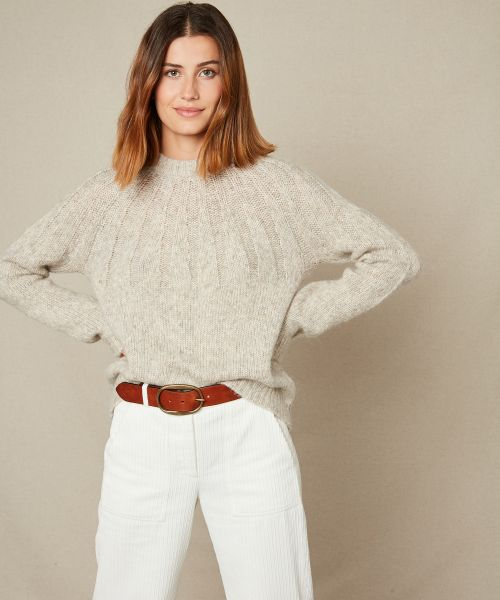 Madiana neck wool sweater
