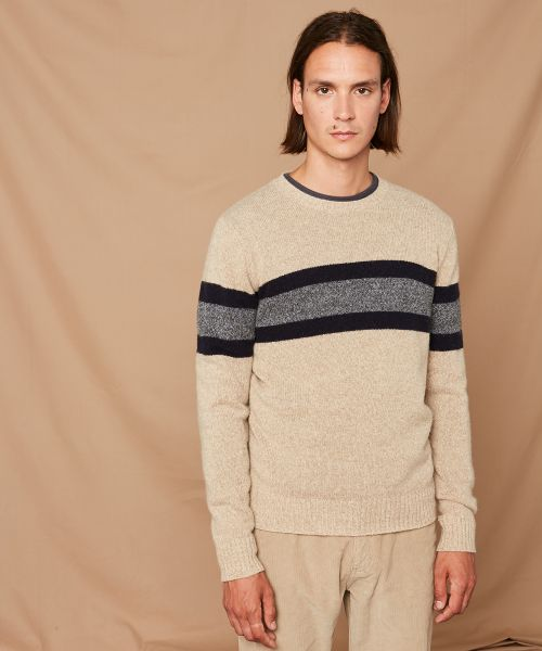 Beige rugby wool sweater