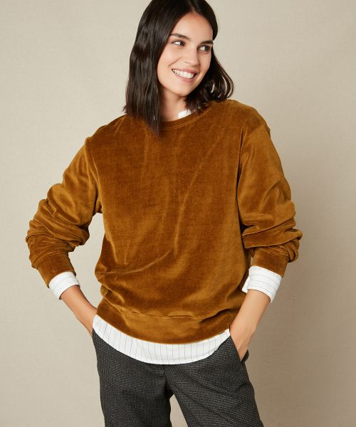 Tairon velvet fleece sweater