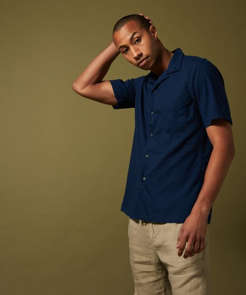 Cotton voile Slam slim-fit shirt