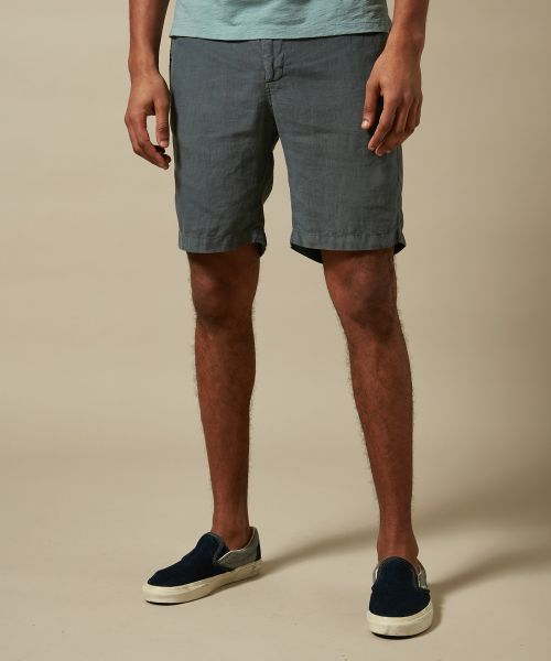 Petrole blue linen Tank easy shorts